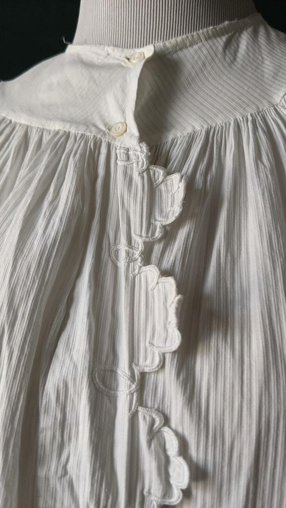 RARE Antique Victorian Edwardian White Cotton Emb… - image 7