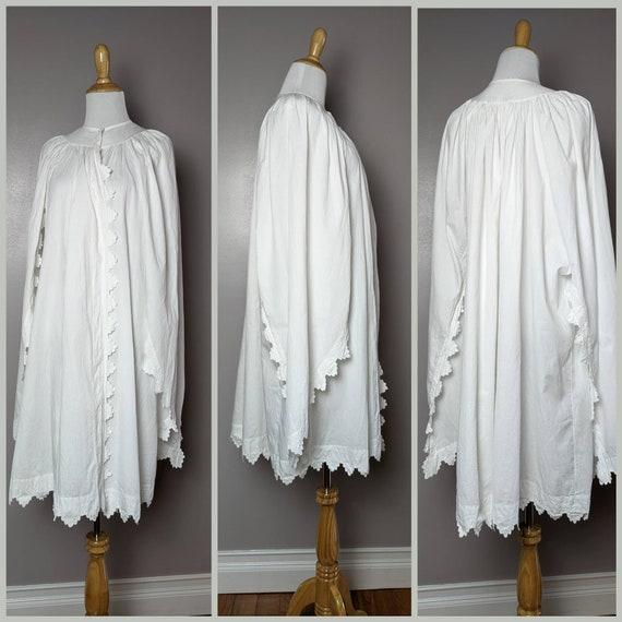 RARE Antique Victorian Edwardian White Cotton Emb… - image 8