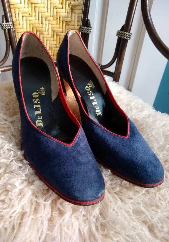 Vintage Blue Suede Shoes