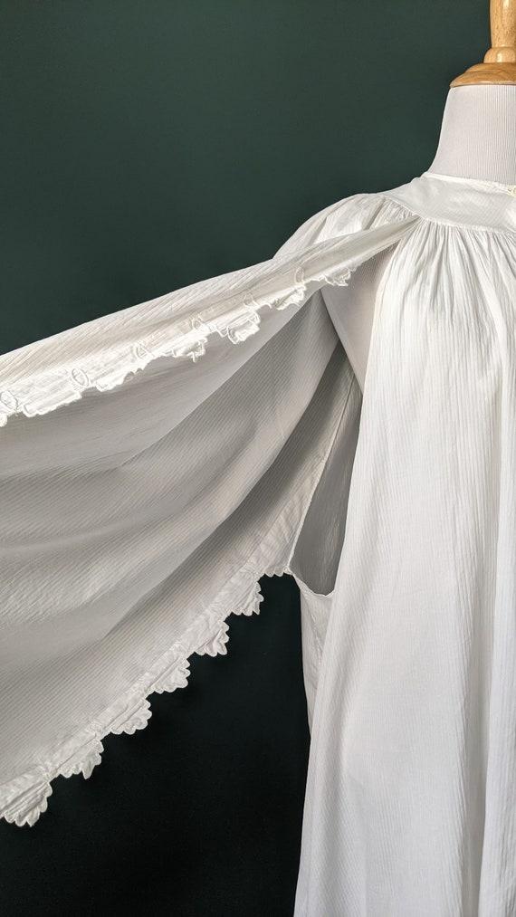 RARE Antique Victorian Edwardian White Cotton Emb… - image 5
