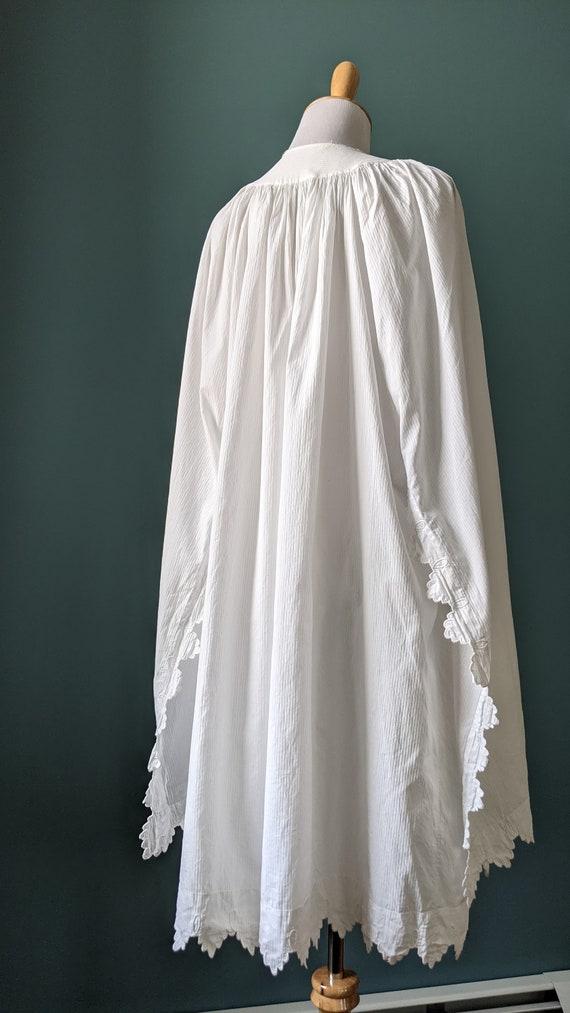 RARE Antique Victorian Edwardian White Cotton Emb… - image 2