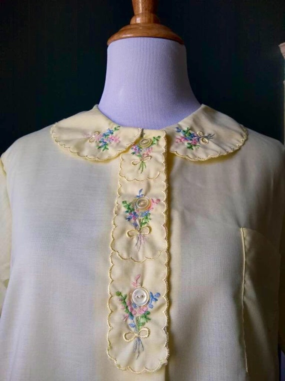 Vintage Embroidered Pajama Set