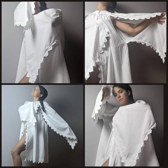 RARE Antique Victorian Edwardian White Cotton Emb… - image 9