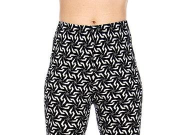 9ffa5d8513ba4b NEW MIX swirly print soft brush leggings PLUS size