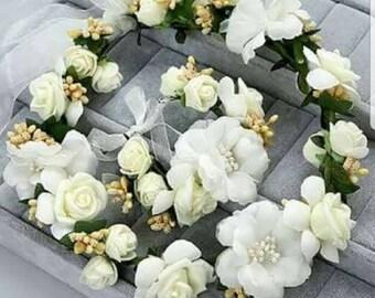 Bridal wreath white flower