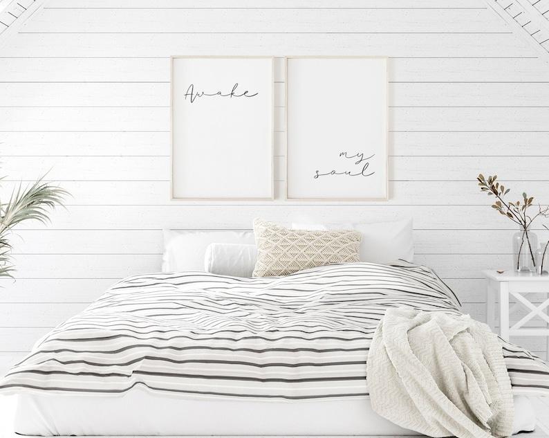 Awake my Soul Printable Set of 2 Wall Art Wall Decoration image 0