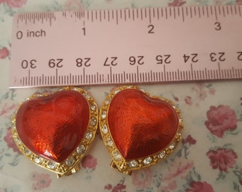 Vintage Victoria's Secret Heart Earrings