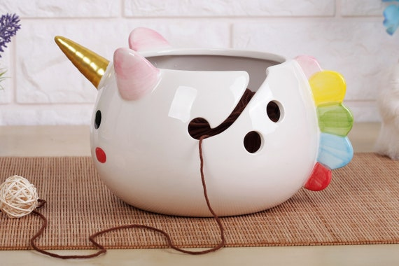 Yarn Bowl Unicorn | Knitting Bowl | Crochet Bowl | Knitter Bowl | Yarn Holder