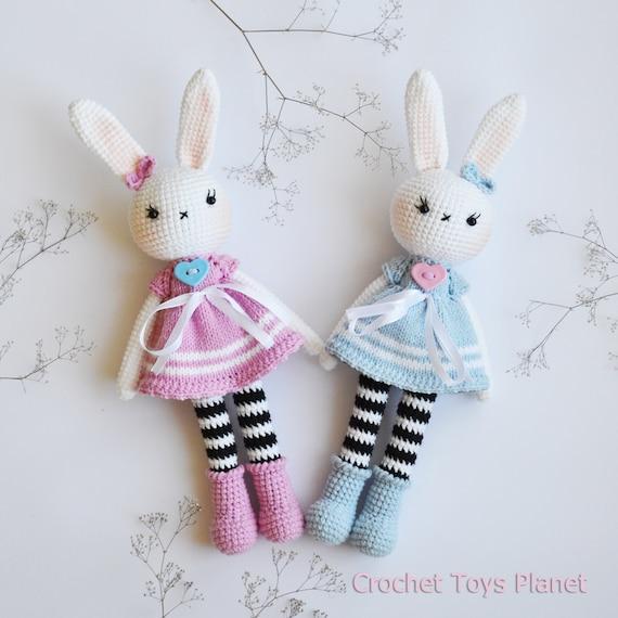 baby gift Crochet bunny ready to ship amigurumi bunny gift for baby baby shower gift
