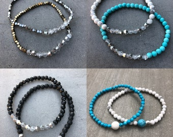 Dainty Friendship and/or Distance Bracelets