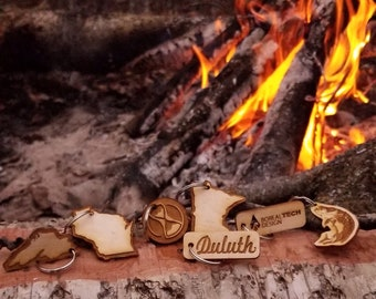 Wood Keychains / Laser Engraved/ Wholesale and Retail