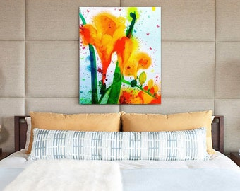 Wall Art Freesia Canvas