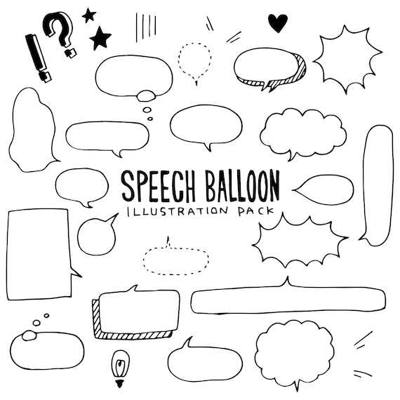Plum Paper Filofax Planners Kawaii Word Balloon,Comic Books,Comics,Cartoons: Planner Stickers  Erin Condren Limelife S137- Speech Bubble