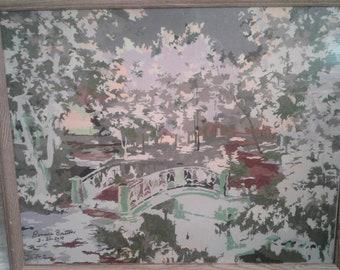 Fall scene painting