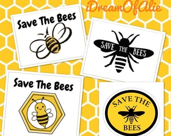 Save The Bees Bumble Bumblebees SVG Cut File