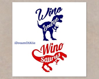 Winosaurus Wine Alcohol TRex Dinosaur