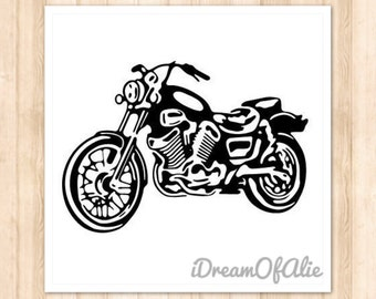 Motorcycle Biker Harley Davidson Bike SVG Cut File