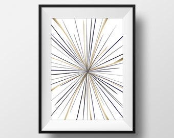 Starburst Print, Starburst Wall Art, Wall Decor, Line Art, Abstract Line  Art, Contemporary Art, Contemporary Modern Abstract Print,starburst