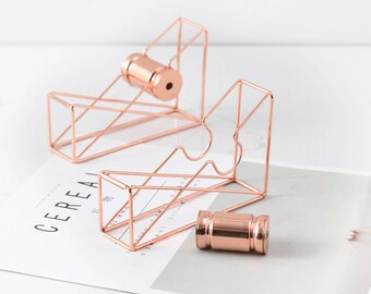 Nordic Simple Modern Rose Gold Tape Holder Dispenser office accessory handmade personalised