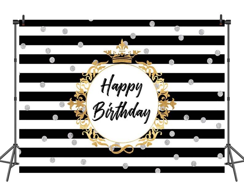 Custom 21st Birthday Black And Silver Polka Dot Photo Backdrop High Quality Computer Print Party Background Camera & Photo