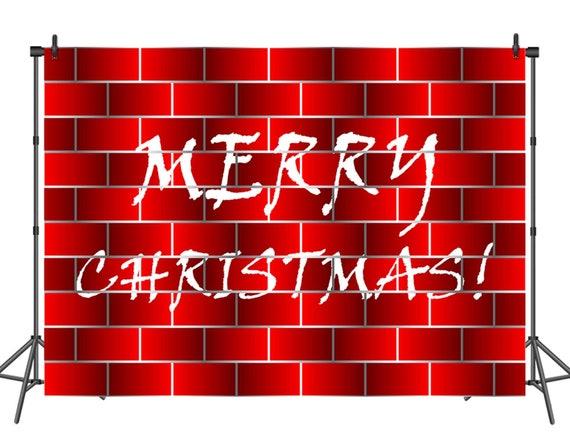 Christmas Graffiti Background.Merry Christmas Photography Backdrops Red Graffiti Brick Wall Christmas Photo Background Custom Happy Holidays Fabric Photo Backdrop