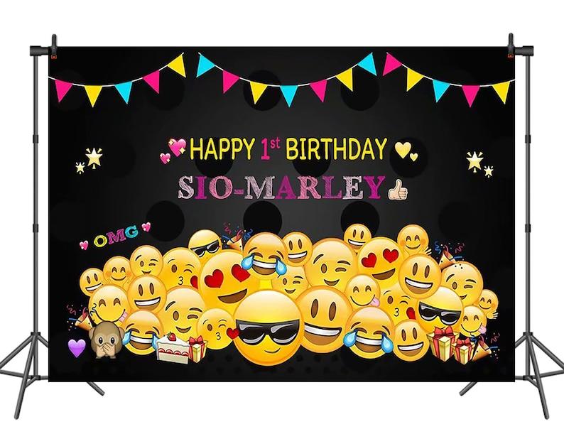 Affiche photobooth pour baby shower emoji | A découvrir sur le blog : keepcoolnewmom.com
