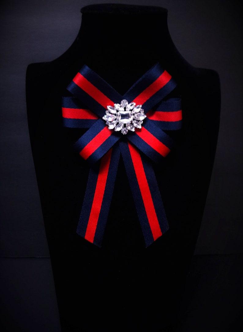 480e050de8b Gucci Inspired Women s Bow Brooch Female Bow Tie Red