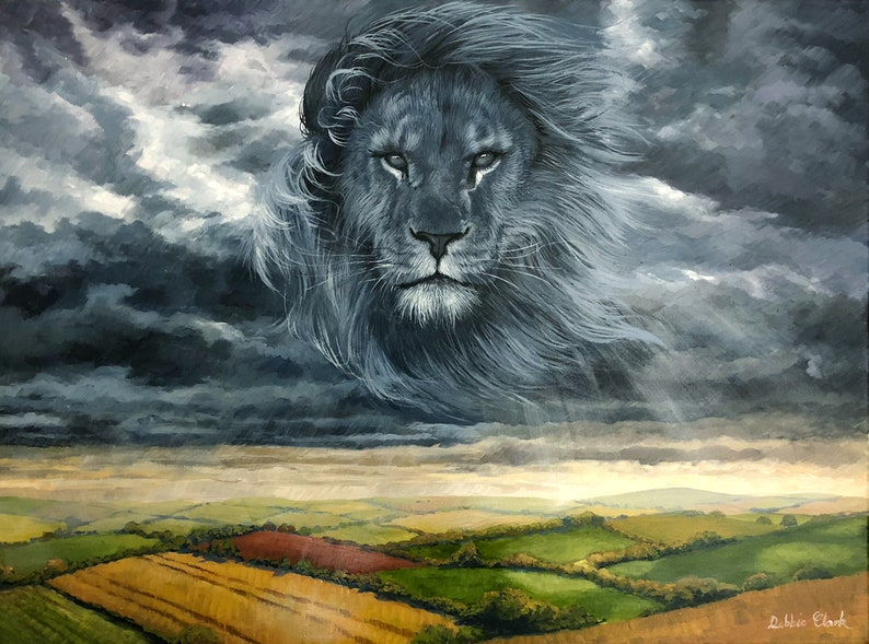 The King of Kings Art Print Lion of Judah in the sky by image 0