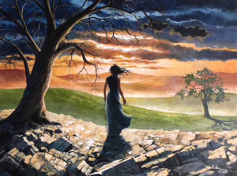 Life and Peace Art Print  Spiritual Art  Limited Edition image 0