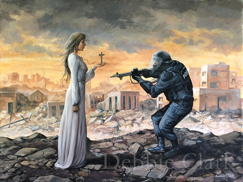 The Fearless Christian Woman  Christian Art  Limited Edition image 0