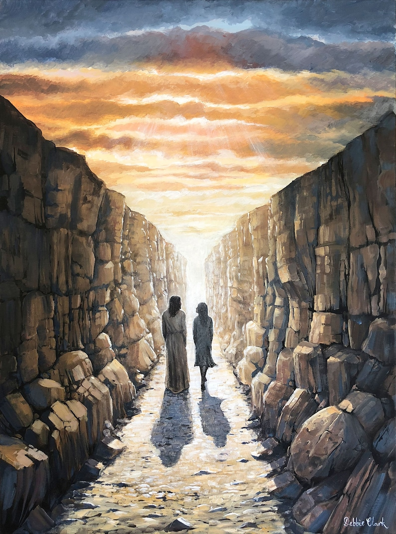 Christian Art  Valley of the Shadow of Death  Art print by image 0