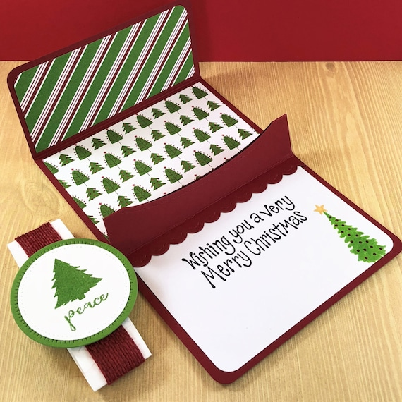 Christmas Tree Pop Up Gift Card Holder