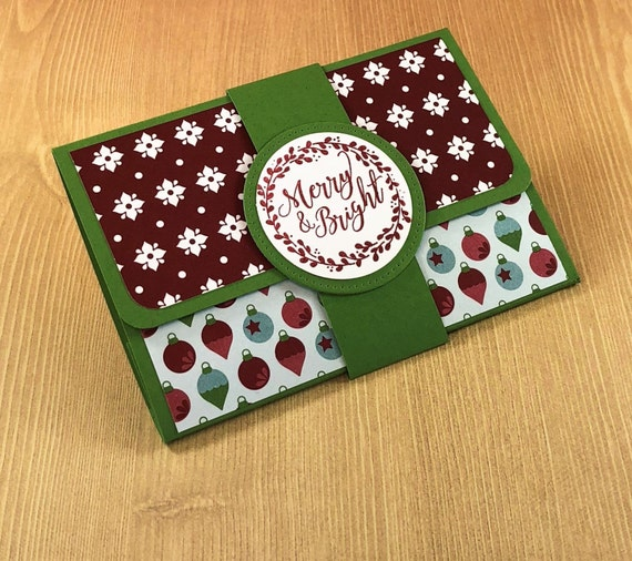 Christmas Pop Up Gift Card Holder Merry And Bright With