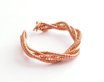 Copper Twisted Ring