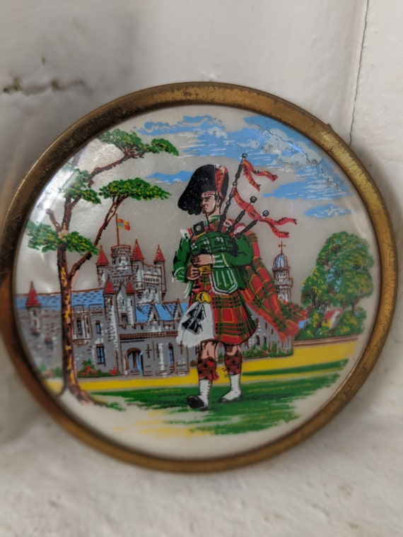 Compact Mirror Scottish Dancer Compact Mirror Sco… - image 1