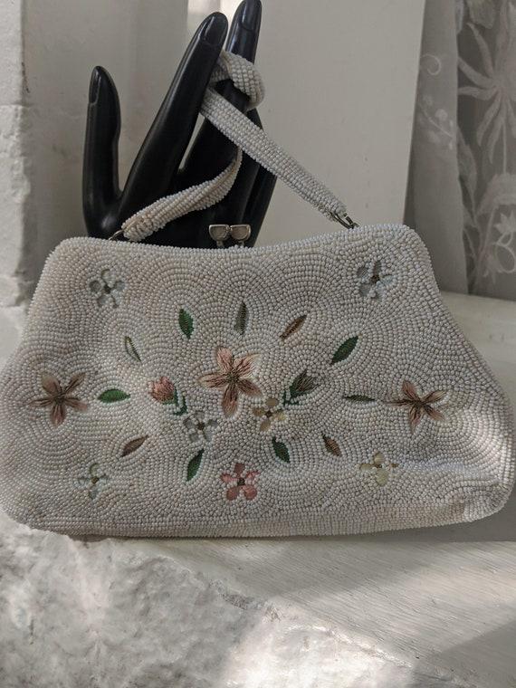 Vintage Beaded Evening Bag Vintage Beaded Purse wi