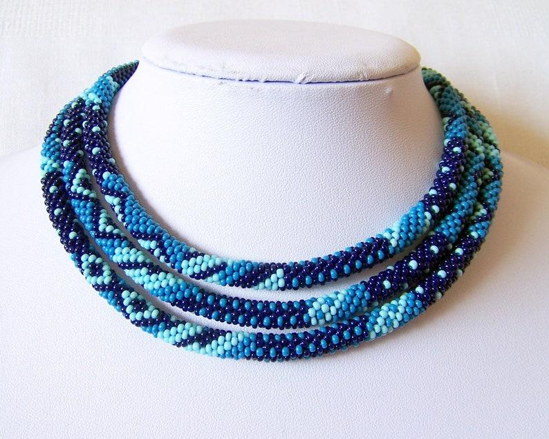 Bead Crochet Kit Bead Crochet Necklace Making  Pattern Kit Beaded Rope Necklace Kit Long Necklace Kit DIY Crafts DIY Kit for Adults
