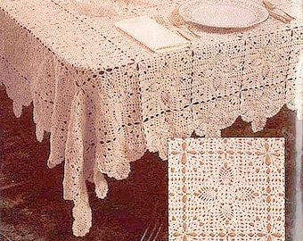 Crochet Tablecloth Pattern Etsy