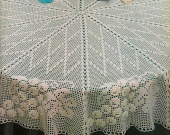 Heirloom round tablecloth crochet pattern   Etsy