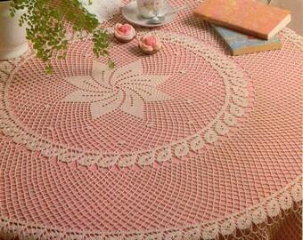 Crochet Tablecloth Etsy