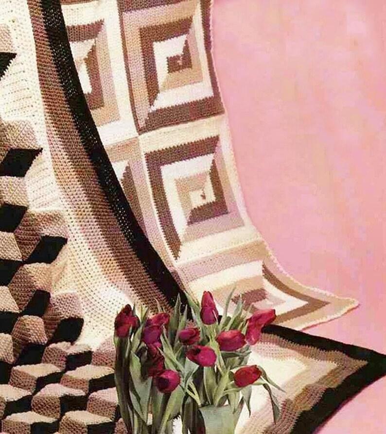 7 PDF Vintage Crochet Patterns Afghan Bedspread Blanket Throw Instant PDF Digital Download Vintage Crochet Pattern # 526*