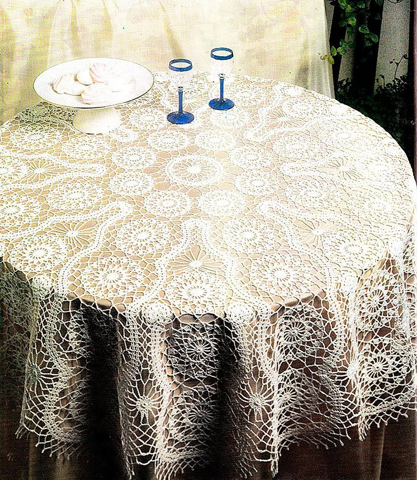 Instant Pdf Digital Download Vintage Chart Crochet Pattern Etsy