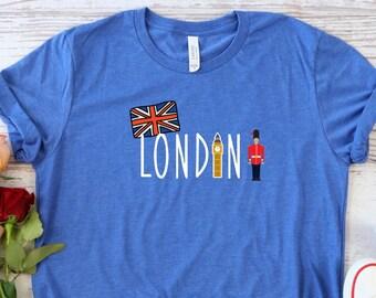 London Tshirt, London Shirt, London England Shirt, British Shirt, London Gifts, Travel Shirt, London Vacation Shirt, Best Travel Gifts