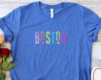 Boston Shirt, Boston T-Shirt for Women, Boston Tee, Boston Gifts, Womens Clothing Shirt, Womens Clothing Tshirt, Boston Massachusetts