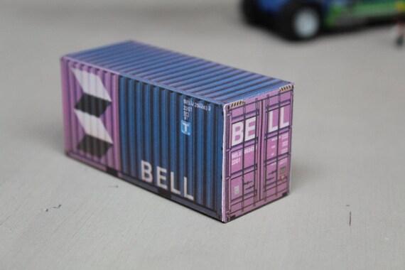 BELL WEATHERED 20FT CONTAINER OO HO N GAUGE PRE CUT CARD DESIGNS BULK PACKS
