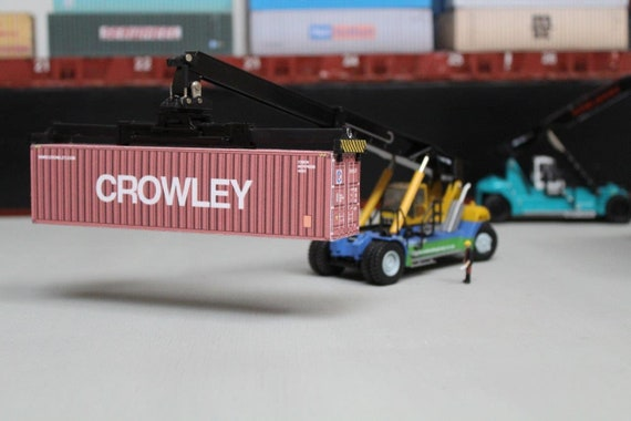 P/&O NEDLLOYD 40FT SHIPPING CONTAINER MODEL OO HO N GAUGE PRE CUT CARD DESIGN
