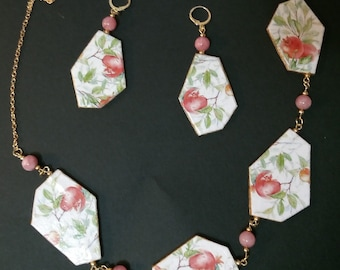 Paper Necklace and Earrings
