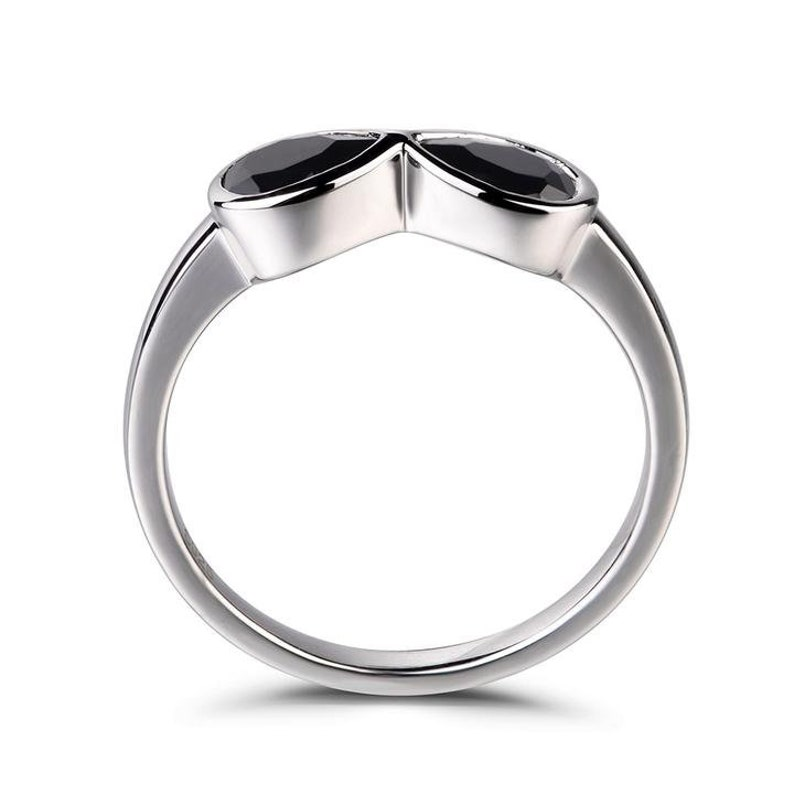 Yellow CZ Claddagh Statement Unique Ring New 925 Sterling Silver Band Sizes 4-10