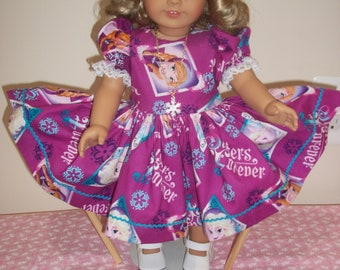 Frozen Doll Dress and Necklace