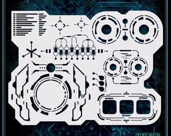 Tech Maker #3 Durable /& Reusable Airbrush Stencil